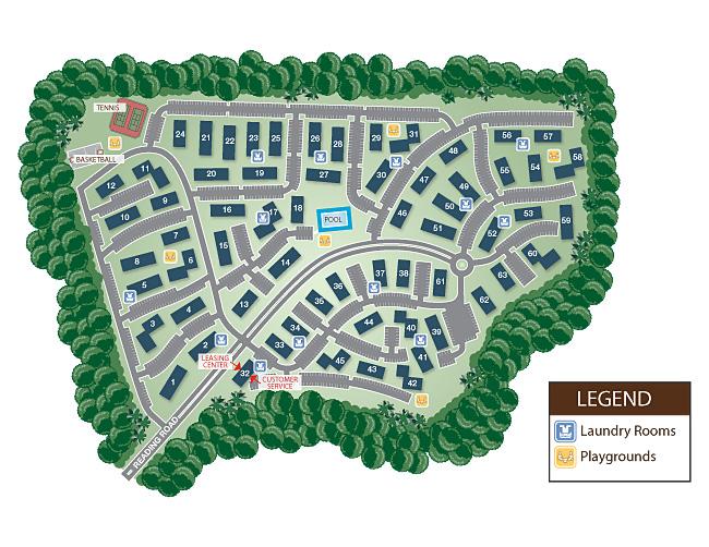 Edison Township: Durham Woods Apartments: Siteplan